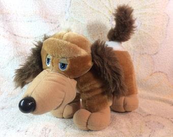 1990 Pooch Patrol Dog Stuffed Animal Tonka Plush Transforming Face Cute