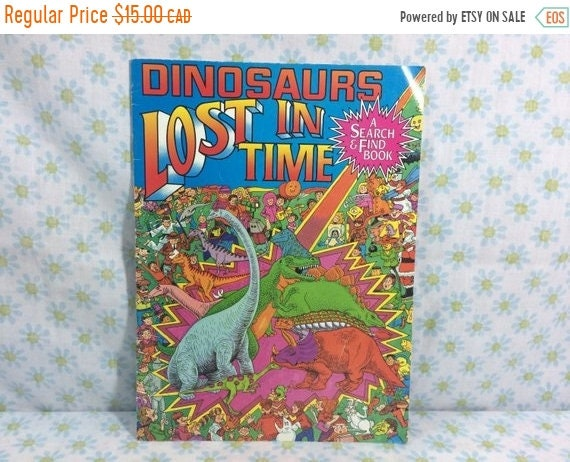 Holiday Sale Dinosaurs Lost In Time Search And Find Book 90s Etsy