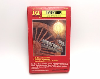 1991 Inventors & Inventions Playing Cards IQ Games educational game Volta Kids Children Learning Flash Cards