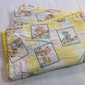 SAVE 25/% Vintage ABC Baby Blanket Quilted Blanket with Cute Animals for Babies Children Toddlers Kids