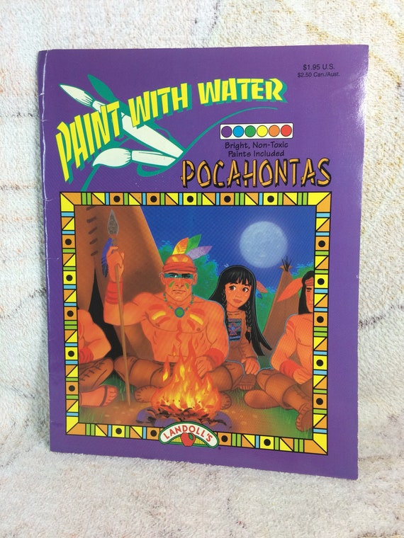 CLEARANCE Pocahontas Paint with Water Coloring Book 1995   Etsy