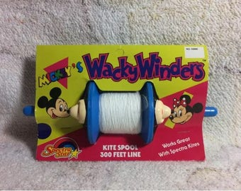 Mickeys Wacky Winders Kite Spool By Spectra Star 1988 Disneyland Mickey Mouse Minnie Mouse Disney 80s Kids Summer