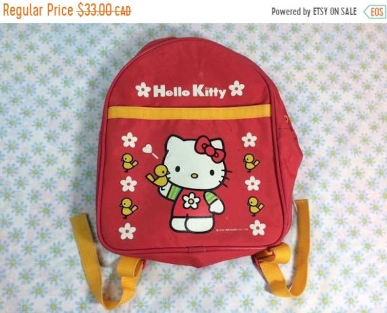 e84d1181e SUMMER SALE Hello Kitty Sanrio Kids Backpack 1998 Children Red   Etsy
