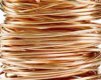 Coil 20 Ga Solid Copper Wire  Round Half Hard  3 Oz 66 Ft
