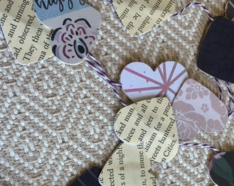 A Book of Hearts Garland