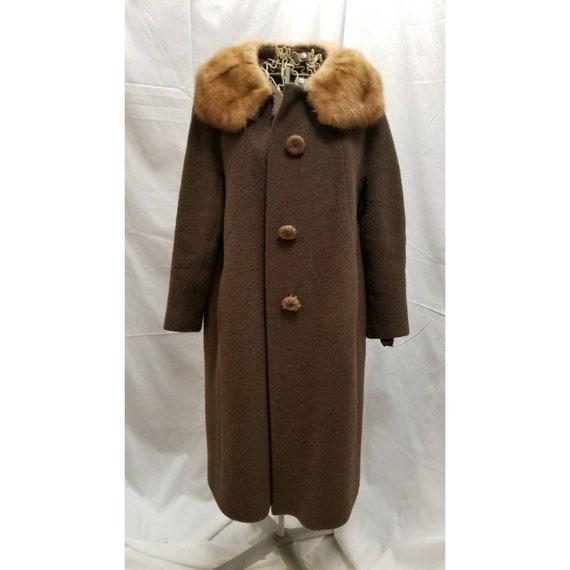 FRITZELA Brown Boucle Swing Coat