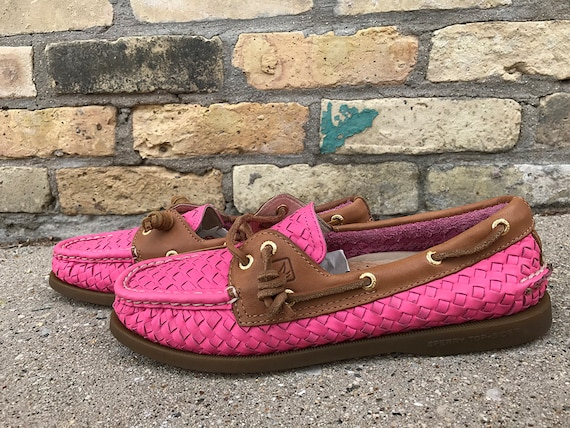SPERRY Pink Boat-Shoe Loafers   Etsy
