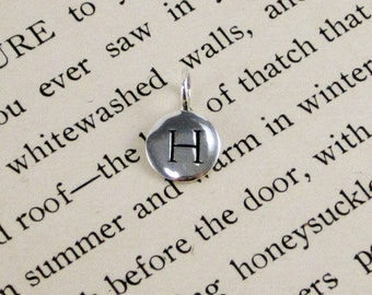 "Sterling Silver Letter  ""H"" Charm"