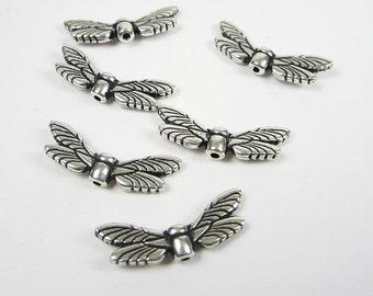 20 Silver Tierracast Dragonfly Wings