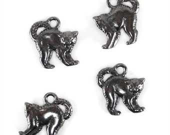 Black Oxide TierraCast Scary Cat Charms