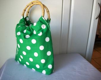 Polka dot Green purse