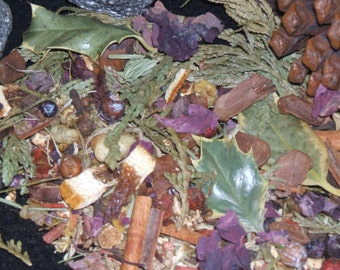 Yule Herbal Blend Potpourri Winter Solstice Sabbat Wicca Pagan Spirituality Religion Ceremonies Hoodoo Metaphysical MaidenMotherCrone