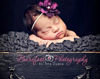 baby headband, photography props for newborns, newborn headbands, purple flower, infant, toddler, teen, adult great photo prop