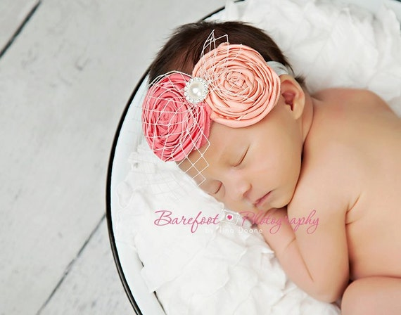 bandeau b b corail bandeau pour nouveau n bandeau pour b b accessoires de cheveux de fille. Black Bedroom Furniture Sets. Home Design Ideas