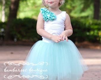 flower girl tutu, aqua blue tutu, blue tutu for wedding, blue tutu, photography prop