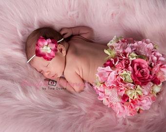 pink headband, newborn headband, baby headband, photography prop, fuschia headband