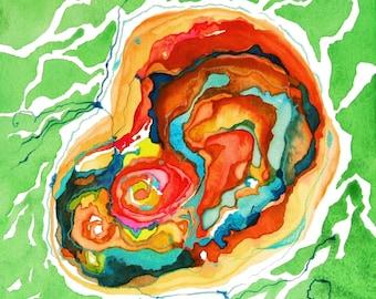 Contemporary Home Decor, Abstract Giclee Print, Watercolor Print, Nature Print, Mandala, Zen, Modern Wall Decor,