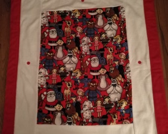 62624717bc Rudolph Red Nosed Reindeer and Misfit Toys Blanket - Handmade - Double  Fleece - last one