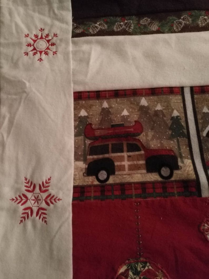 Blanket Flannel Blanket Winter Camping Snowflakes | Etsy
