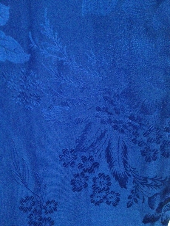 Vintage blue silk qipao sz S - image 5