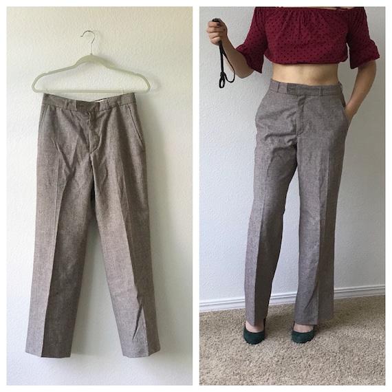 Vintage YSL Yves Saint Laurent Wool Trousers 1970'