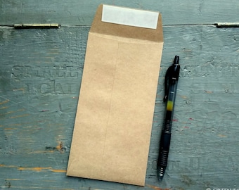 """100 X-Large Packet Envelopes, Recycled Grocery Bag Kraft Brown, XL Favor packets, extra large seed packets, 3 1/2"""" x 6 1/2"""" (89 x 165mm)"""