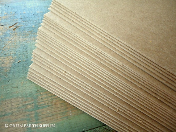 25 thick 50pt chipboard sheets 8 5 x 11 kraft brown chipboard etsy