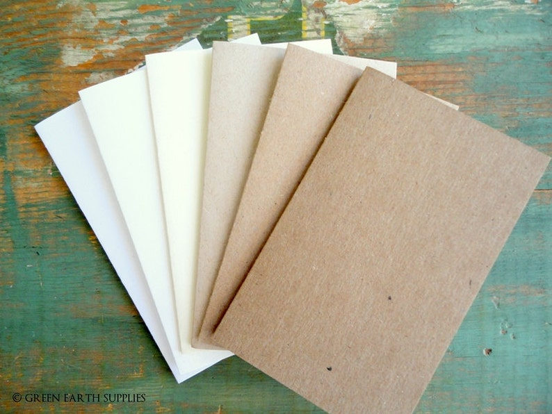 100 Folded Place Card Escort Cards: Recycled placecards Tent image 0