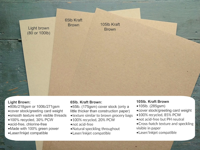 4x6 100 4x6 Flat Cards only Kraft or Light Brown FLAT Cards 100/% Recycled Blank Flat Response Cards Recipe Cards Postcards 65-100lb