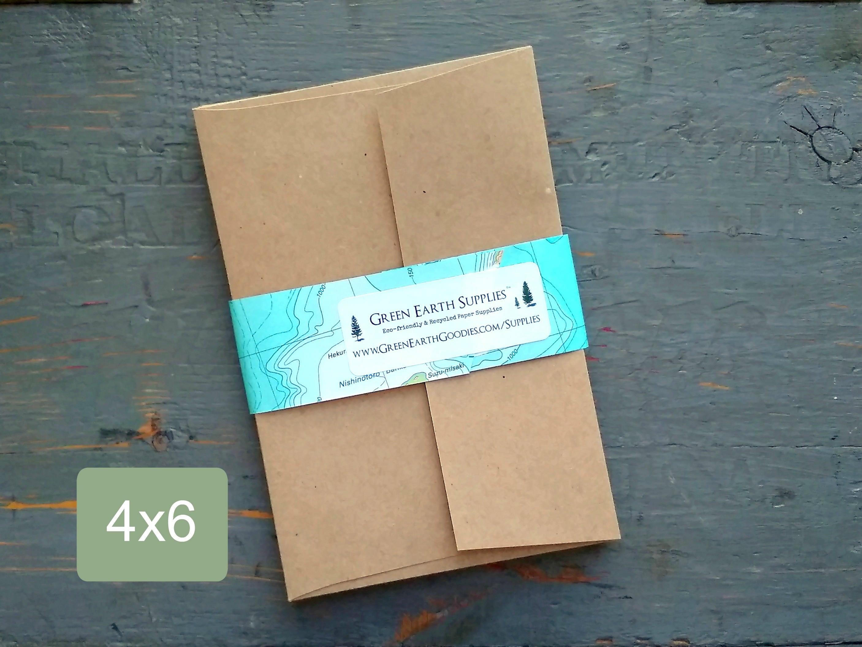 100 4x6 Envelopes 100 Recycled Kraft Brown Photo Etsy