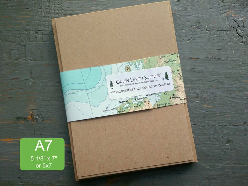 100 A7 FLAT Cards & Envelopes 100% recycled invitations 5x7 image 0