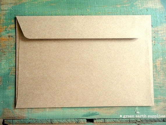 "50 6x9 Kraft Envelopes: eco-friendly envelopes, recycled envelopes, grocery bag kraft brown 6""x9"" booklet envelopes (15.2 cm x 22.9 cm)"