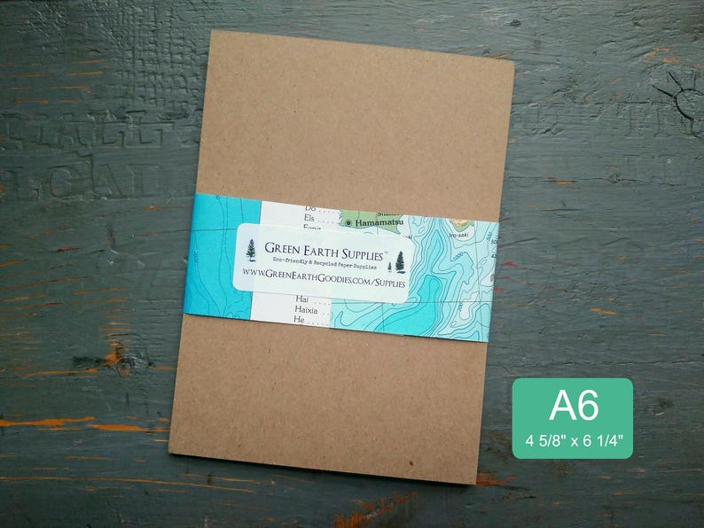100 A6 FLAT Cards only Kraft or Light Brown  100% Recycled image 0
