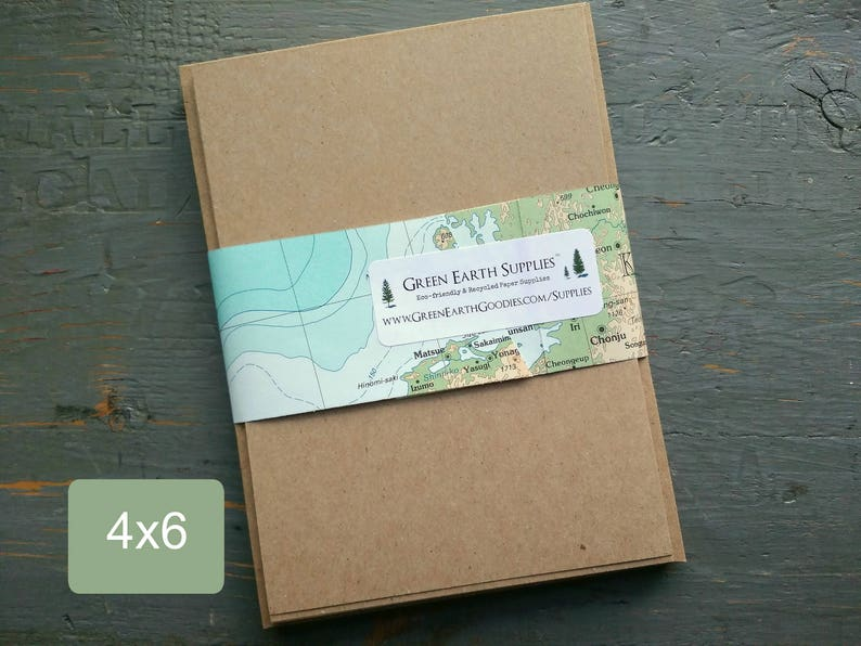 100 4x6 FLAT Cards & Envelopes Kraft Brown or Light Brown image 0