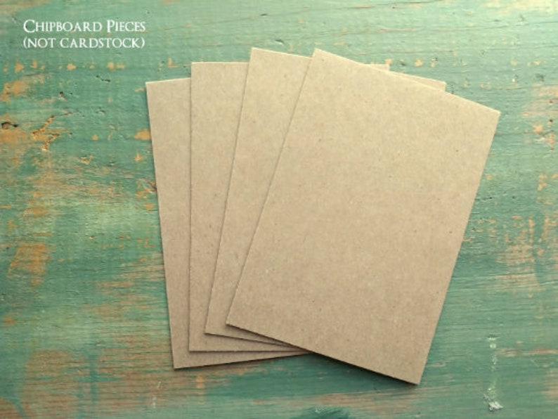 2.5x3.5 ACEO blanks Chipboard Pieces ATC blanks Business Card image 0