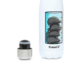 Moles Per Litre Bottle - Insulated Stainless Steel Drinks Bottle - Cute Chemistry Science Joke Water Bottle