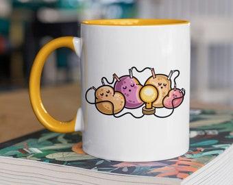 Power Nap Science Mug - Kawaii Cute Potato Battery Physics Experiment Ceramic Mug