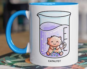 Catalyst Chemistry Pun - Cute Cat Science Ceramic Mug