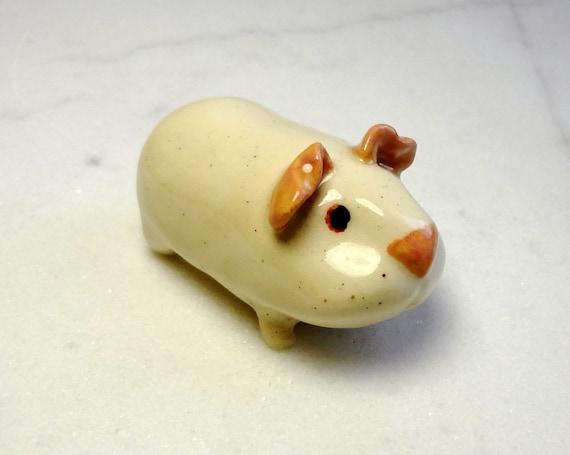Albino Guinea Pig Terrarium Miniature Animal Figurine Etsy