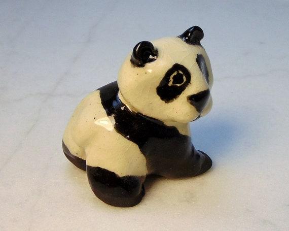 Giant Panda Miniature Panda Figurine Panda Terrarium Etsy