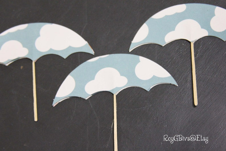 Mary Poppins Umbrella Cupcake Toppers | Etsy