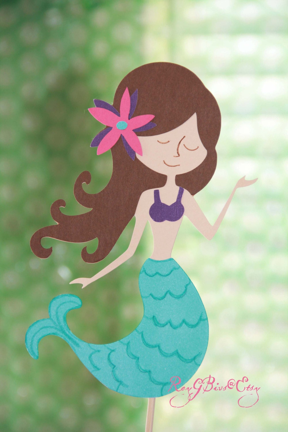 mermaid cake topper mermaid cake topper etsy 5834