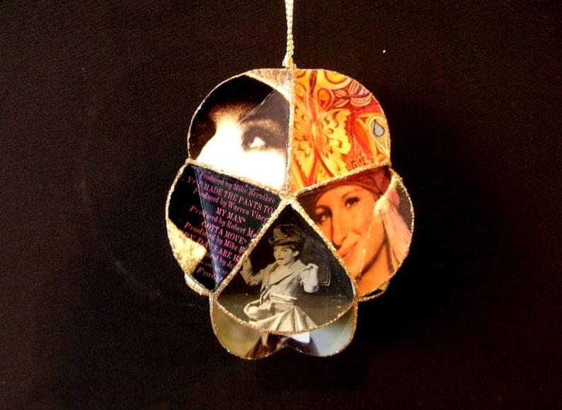 Barbra Streisand Album Cover Ornament Made Of Repurposed Record Jackets