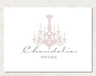 Chandelier graphic etsy premade logo design premade logo and watermark photography logo for any business chandelier logo reheart Gallery