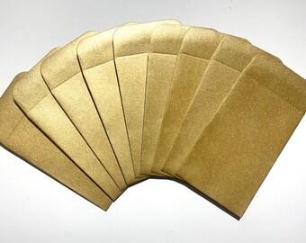 Gratuity Envelopes, Metallic Gold