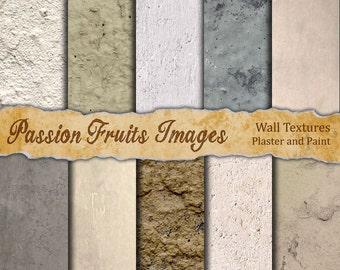 Grunge Wall Textures Digital paper Pack for Digital Scrapbooking, web design, royalty free