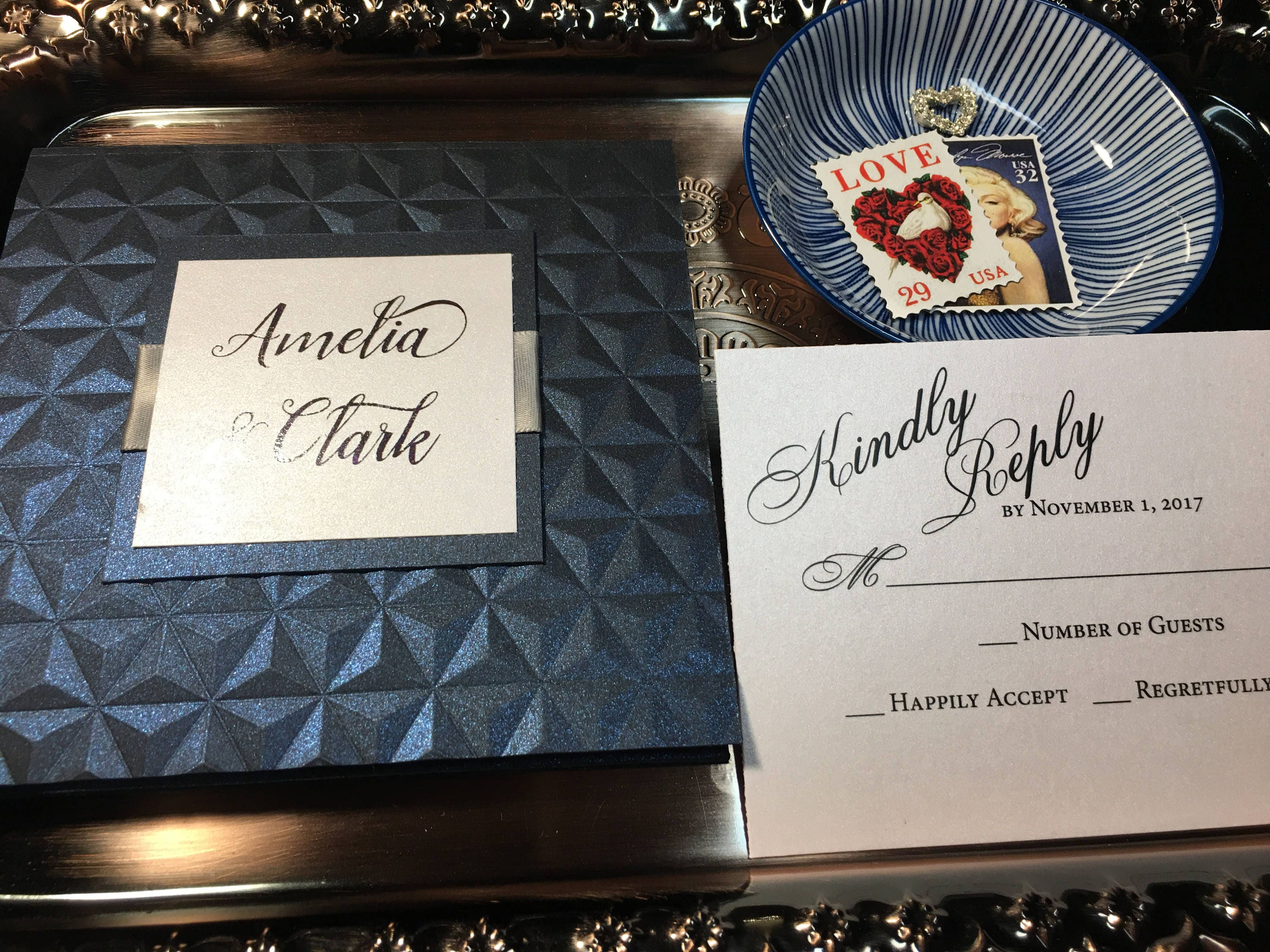 New Years Eve Wedding Invitation: Amelia Elegant Wedding Invitation New Years Eve Wedding