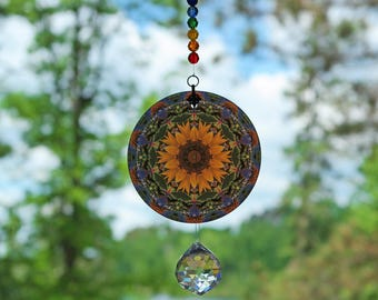 Chakra Mandala Suncatcher Zen Sunflower Boho Chic Sacred Geometry Hippie Kaleidoscope Meditation Tool Unique Gift For Her My Beauty Within