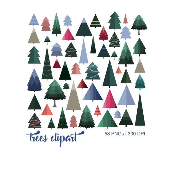 Transparent Modern Christmas Tree Clip Art
