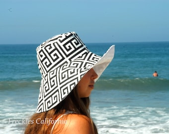 Summer Sun Hat, Wide Brim Sunhat, Vacation Hat, SELECT COLOR and SIZE, Women's Sun Hat for Honeymoon. Gardening, Pool by Freckles California